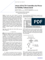 Review on Comparison of FACTS Controllers for Power System Stability Enhancement