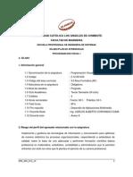 Programacion Visual I -Silabo