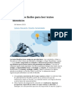 Ángel Pérez Martínez. Diez Consejos Fáciles Para Leer Textos Filosóficos