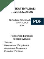HAKEKAT EVALUASI PEMBELAJARAN edit 1.ppt