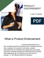 Product Endorsement Ppt