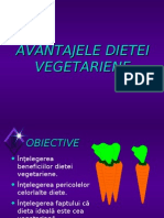 Avantajele dietei vegetariene
