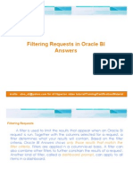 Filtering Requests in Oracle BI Answers
