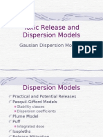 Toxic Release and Dispersion Models