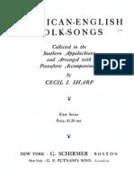Cecil Sharp American Folk Songs