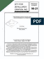 Case Studies in Open Pit Design Using Lerchs-grossman Pit Optimization