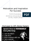 Motivation and Inspiration for Success
