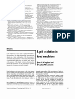 Lipid Oxidation in Food Emulsions