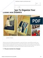 19 Genius Ways to Organize Your Closet and Drawers _ Diply