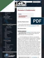 Domains & Subdomains - Eberron Pathfinder