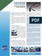 Nortek Aquadopp Current Meter Sensor Head Configurations