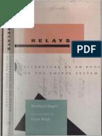 Siegert Bernhard, Relays Literature as an Epoch of the Postal System