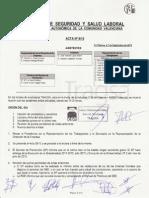 Acta 09/2015 Comité Seguridad y Salud Laboral