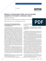 Wireless communication fields and non-specific symptoms of ill health