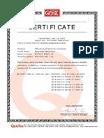 CE Certificate MT612X MT8121X
