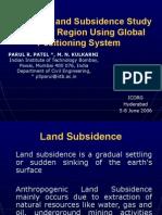 Land Uplift and Subsidence Study ICORG 06, Hyderabad