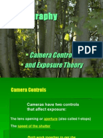 photography camera controls and exposure