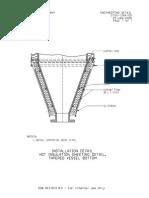 G15G-1264-00 Installation Detail for Hot Insulation Detail Tappered Vessel Bottom