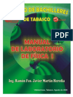 Manual de Laboratorio de Fisica i 2006
