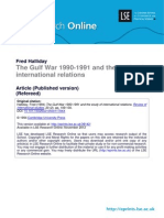 The Gulf War 1990-1991 and the Study of Internal Relation