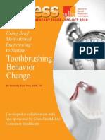 Using Brief Motivational Interviewing to Sustain Toothbrushing Behavior Change
