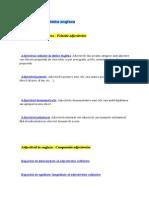 Adjectivul -felurile adjectivului