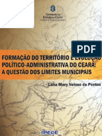 Formacao Territorio Evolucao Politico Administrativa Ceara Questao Limites Municipais