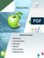 Dentistry Journal Reading