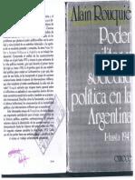 Alain Rouquié - Poder militar y sociedad política en la Argentina Cap 4,5,6 y 7.pdf