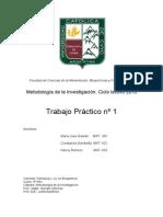 METODOLOGÍA DE LA INVESTIGACIÓN, TRABAJO PRÁCTICO UNIVERSITARIO