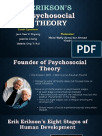 Erikson's Psychosocial Theory 8 stages of Development