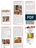 Triptico -Educacion Inca