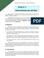 FICHA Nº 3 FACTORES PSICOLÓGICOS DEL ESTUDIO