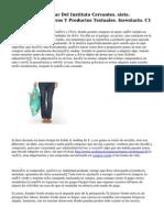 CVC. Plan Curricular Del Instituto Cervantes. siete. Géneros Discursivos Y Productos Textuales. Inventario. C1