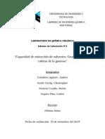 Capacidad de Extracción de Solventes. Grasa Del Maní y Cafeína de La Gaseosa.