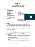 Syllabus Derecho Civil III - Reales DERECHO UAP