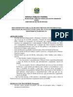 Procedimentos e Documentos Para Ajuda de Custo Redistribuicao