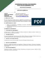 Silabo_Metodos Numericos Huanuco