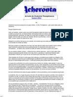 CASO_Acheronta 14 - La Vida de Lucha de Clodomira Thompkinsons - Gustavo Etkin