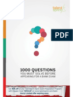 1000 Questions related to banking