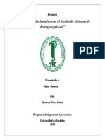 Resumen Riego Y Drenajes -Petro Pérez Eduardo