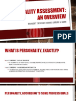 Personality Assessment Overview by Daniel Buan