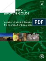 Bio slurry- brown gold? literature for production biogas