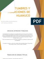 Costumbres y Tradiciones de Huanuco