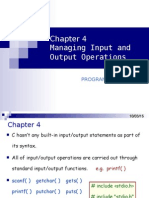 4 Managing Input and Output Operations
