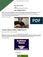 Tecnica Guitarra Solista Andina Parte I,II YIII _ La Guitarra Peruana