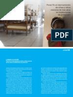 Poner Fin Al Internamiento de Niños y Niñas Menores de 3 Años en Instituciones de Protección