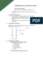 Determinación Experimetal de La Densidad de Aditivo 2