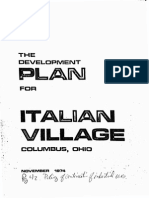 Development Plan Italian Village 1974 Reduced