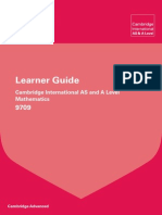 151728 Cambridge Learner Guide for as and a Level Mathematics